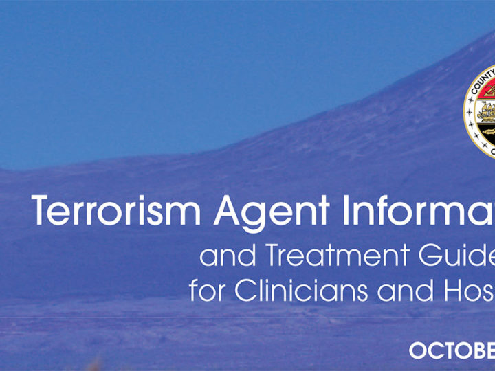 Terrorism Agent Information and Treatment Guidelines