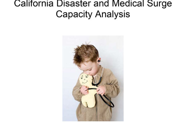California Disaster and Medical Surge Capacity Analysis