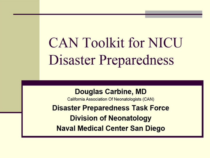 Neonatal Disaster Preparedness Toolkit