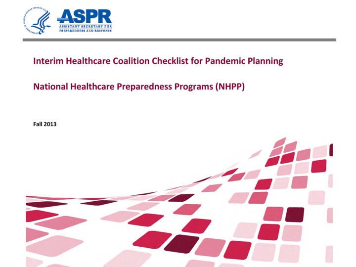 Checklist for Pandemic Planning