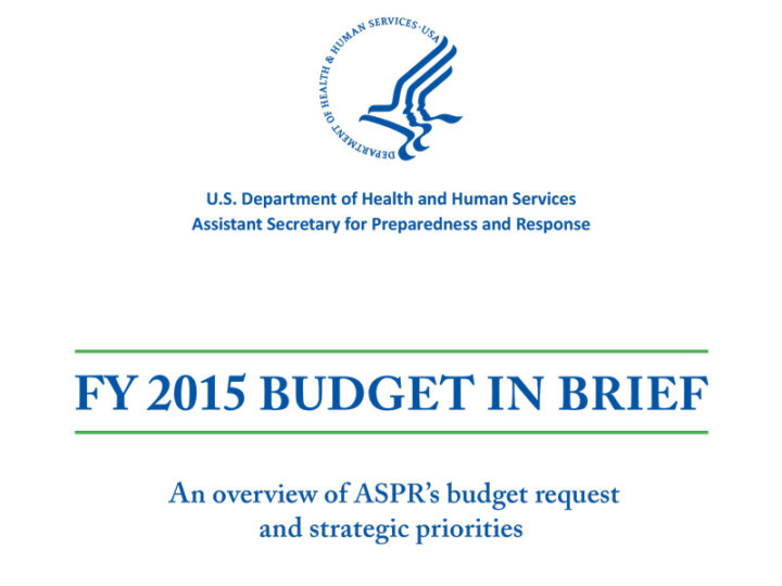 ASPR Budget in Brief 2015